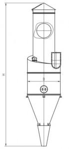 Циклон ЦП-2 сборочный чертеж