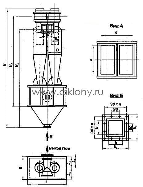 Циклон ЦН 15-400-2СП , цена Циклон ЦН 15-400-2СП, стоимость Циклон ЦН 15-400-2СП , Циклон ЦН 15-400-2СП чертеж ,Циклон ЦН 15-400-2СП характеристики