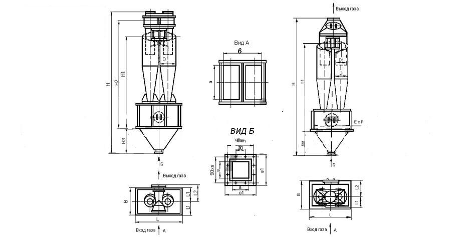 ЦН Циклон ЦН 15-600-2СП , цена Циклон ЦН 15-600-2СП, стоимость Циклон ЦН 15-600-2СП , Циклон ЦН 15-600-2СП чертеж , Циклон ЦН 15-600-2СП характеристики чертеж