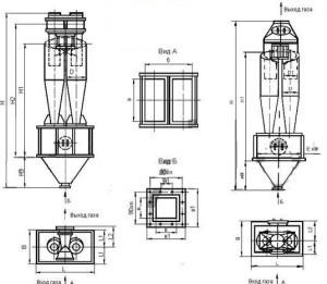 Циклон ЦН 15-700-2СП , цена Циклон ЦН 15-700-2СП, стоимость Циклон ЦН 15-700-2СП , Циклон ЦН 15-700-2СП чертеж , Циклон ЦН 15-700-2СП характеристики
