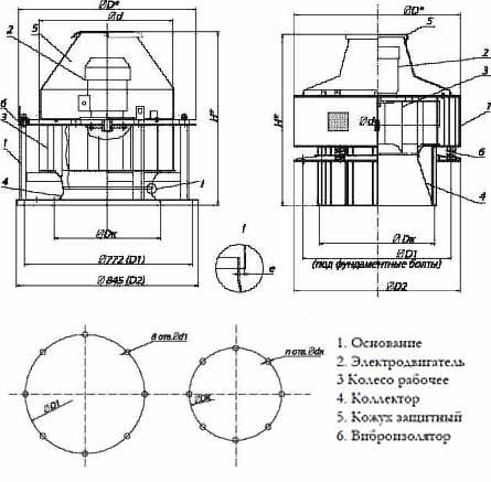Чертеж вентилятора ВКРС