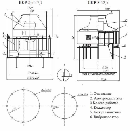 Чертеж вентилятора ВКР